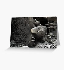 Torqued Surface Greeting Card