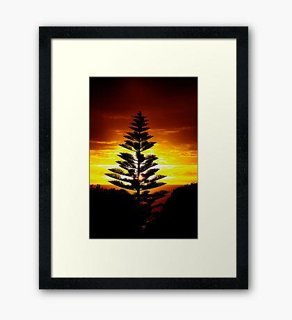 Fiery Dawn Framed Print