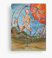 running to nowhere on the infinate hamster wheel Canvas Print