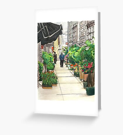 Flower city Greeting Card
