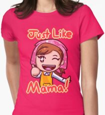 Cooking Mama- Just Like Mama! Womens Fitted T-Shirt