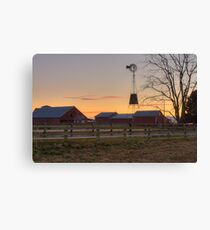 Wispy Clouds and a Windmill Canvas Print