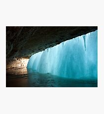 Frozen Waterfall Photographic Print