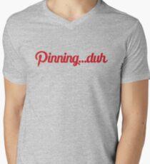 Pinning...duh (text) Mens V-Neck T-Shirt