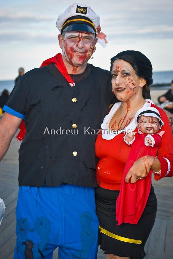 Popeye and Olive Oyl on Halloween | Costume craze  |Popeye Zombie Costumes