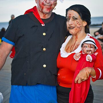 Popeye and Olive Oil Zombies by andykazie