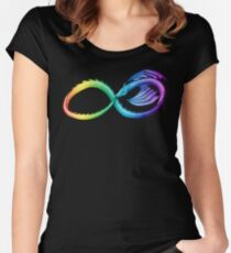 Spectrum Infinity Dragon Women's Fitted Scoop T-Shirt
