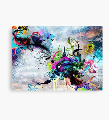 Streaming Eyes Canvas Print
