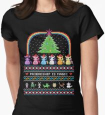 Happy Hearth's Warming Sweater Women's Fitted T-Shirt
