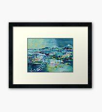Flooded plains Framed Print