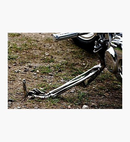 UP YOURS. Motorbike stand Photographic Print