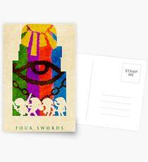 Four Postkarten