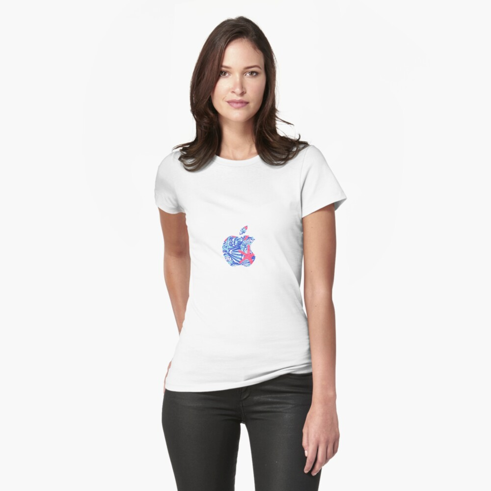 Seestern Lilly Apple Logo Tailliertes T-Shirt