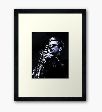 Patrick Lamb - Blues, Jazz and Funk King Framed Print