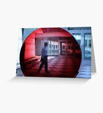 Crystal Bridges . org      Big Red Lens Greeting Card