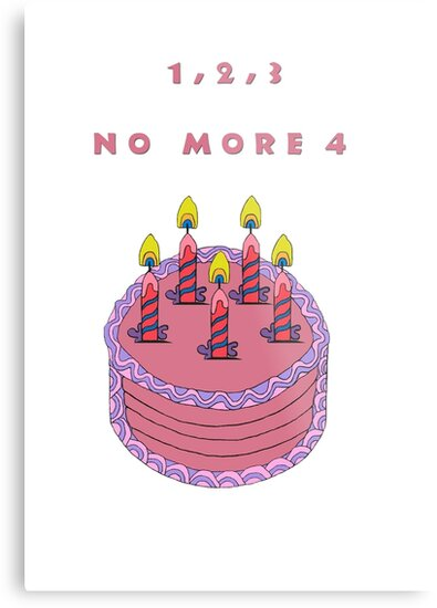 Birthday Cake For A 5 Year Old Girl Metal Print By Edwardskids