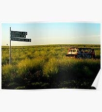 rusty sunset Poster