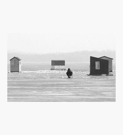 The Ice Fisher Photographic Print