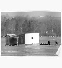 Ice Fishing On Rice Lake Poster