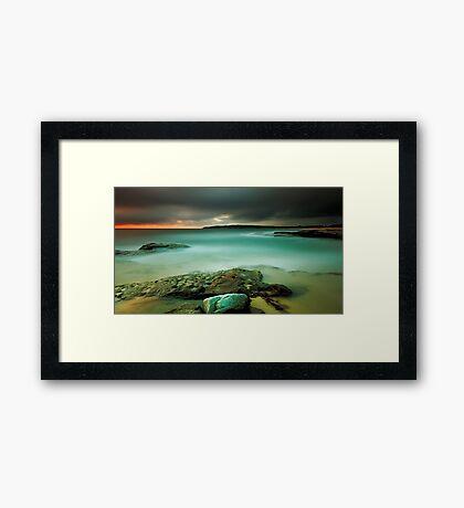 An Aqua Dawn Framed Print