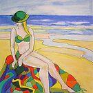 Beach girl # 1  by Virginia McGowan