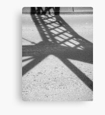 Abstract Forms: Shadow Truss, Shoalhaven River Canvas Print
