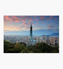 Taipei Sunset Photographic Print