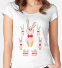 Easter Bunnies T-Shirt Women's Fitted Scoop T-Shirt