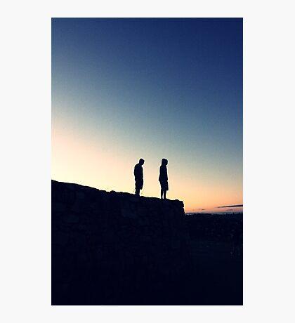 sun sets over us Photographic Print