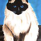 A burma cat in acrylic by Akiqueen