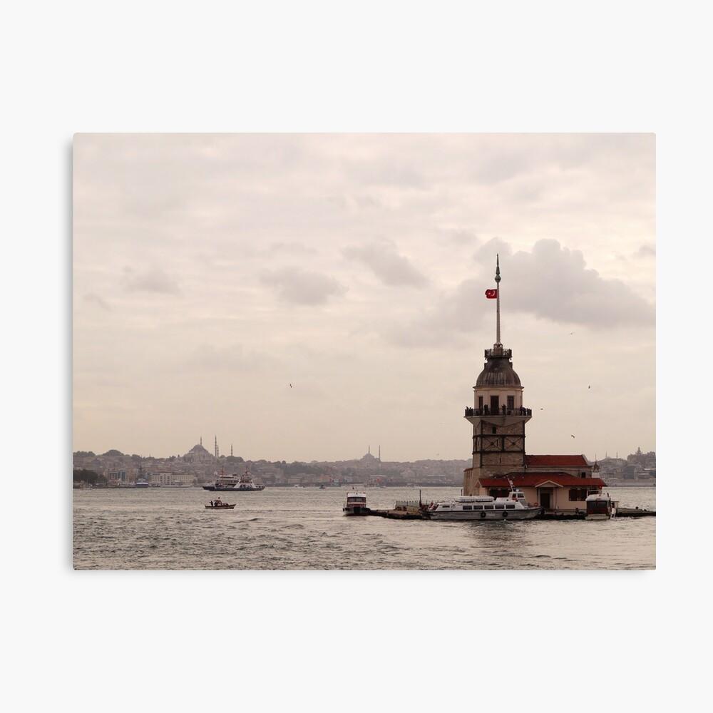 Leander tower (Kız Kulesi) - Üsküdar Canvas Print