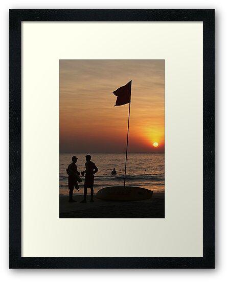 Life Guard Station at Sunset Palolem Beach by SerenaB