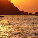 Boat at Sunset Palolem by SerenaB