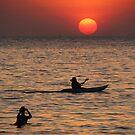 Kayaking at Sunset Palolem by SerenaB