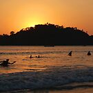 In the Sea at Sunset Palolem by SerenaB