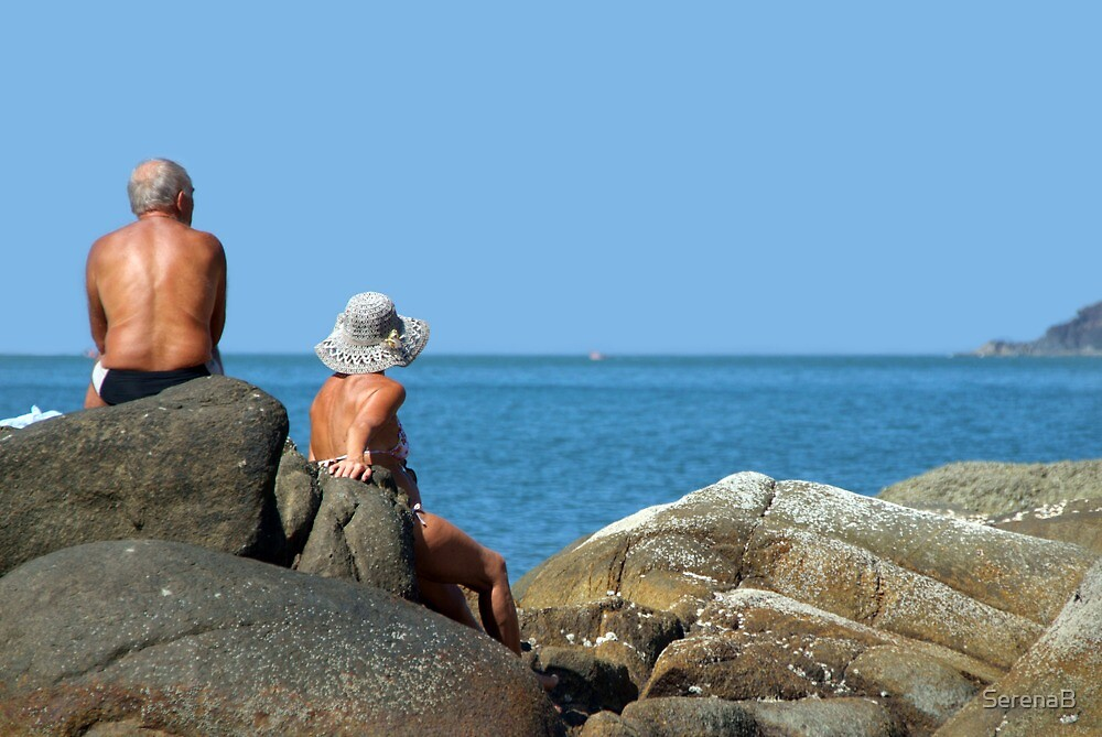 Sitting on Rocks Palolem by SerenaB