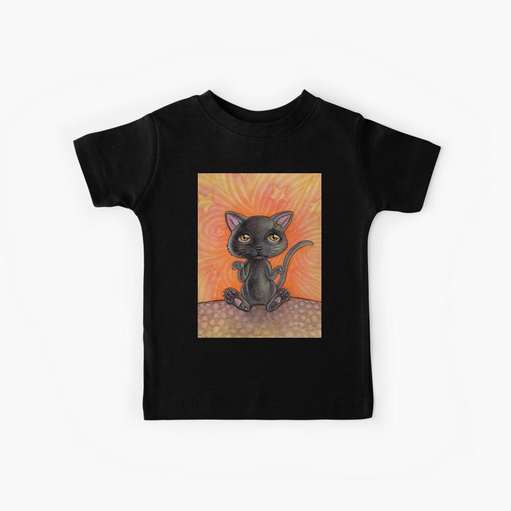 Black Cat Camiseta para niños