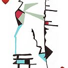 American Expressionism-9 of Hearts by Peter Simpson
