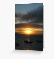 South American Sunset Greeting Card