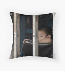 Boy in Cage - Peter Jackson Throw Pillow