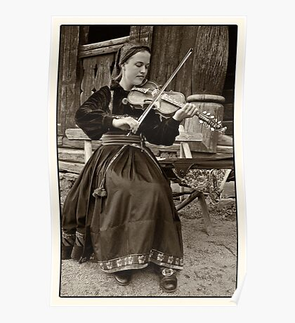 Hardanger fiddle player Poster
