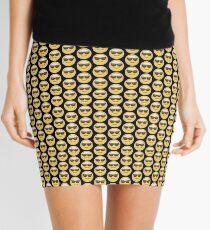 Emoji Sunglasses Face Black Background Mini Skirt