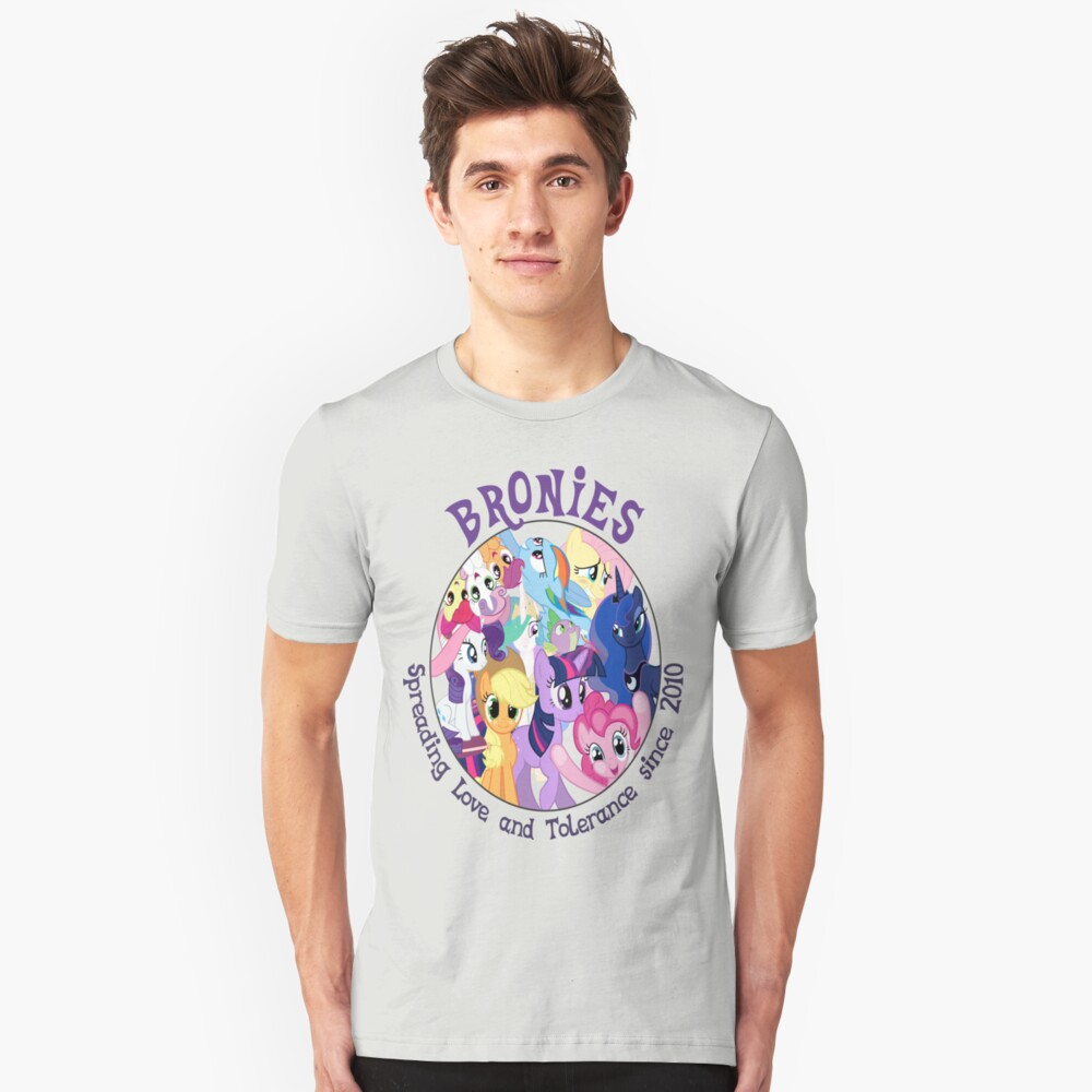 Bronies, classic logo Unisex T-Shirt Front