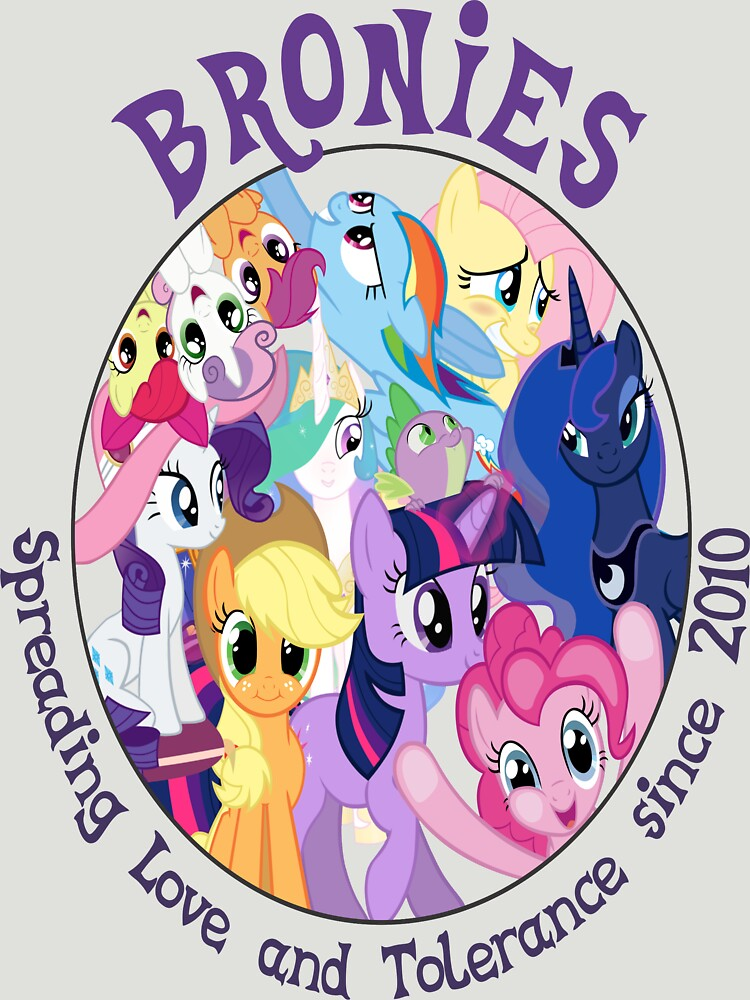 Bronies, classic logo by SpeechBubble