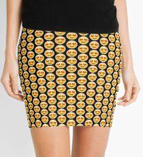 Emoji Heart Eyes Black Background Mini Skirt