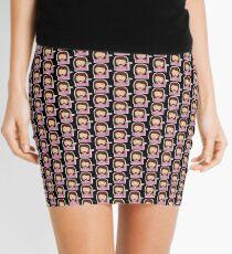 Emoji Information Desk Sassy Lady Black Background Mini Skirt