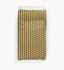 Emoji Wink Kiss Black Background Duvet Cover