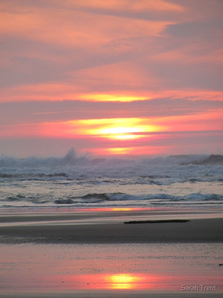 Sunset Waves Goodnight by Sarah Trent