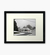 Feb. 19 2012 Snowstorm  Framed Print