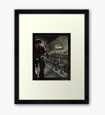 The Bodie Saloon Framed Print